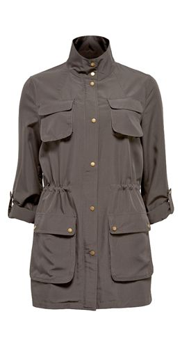 Down Under Anorak - $79.00 - Drawstring waist pulls on inside of jacket to create shape. Lightweight fabric that is soft