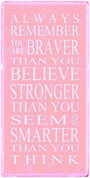 Remember you are a strong woman!