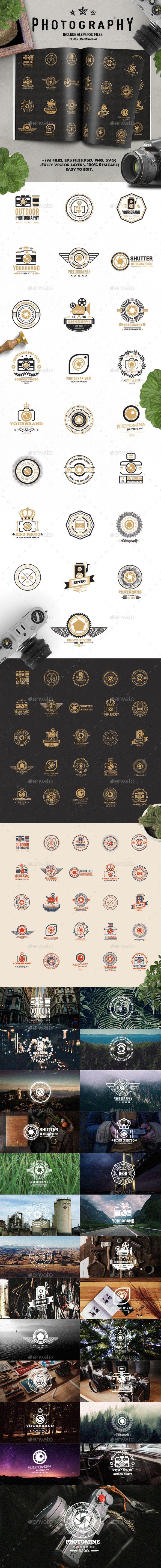 25 Photography Logo Design Template - Web Element Template PSD, EPS Vector, AI Illustrator. Download here: https://graphicriver.net/item/25-photography-logo-design/17353791?ref=yinkira