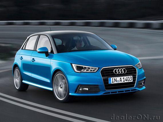 Хэтчбек Ауди А1 Спортбэк 2015 / Audi A1 Sportback 2015 – вид спереди