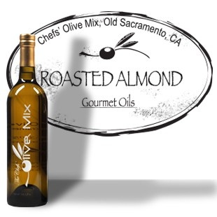Roasted Almond Seed Oil. Our California Roasted Almond Oil is expeller pressed and lightly filtered with an amazingly delicate nose and deep roasted flavor. Great for sautéing, drizzling, baking, dipping and as a vinaigrette. Pair with the raspberry balsamic or lemon white balsamic condimento for an amazing vinaigrette.