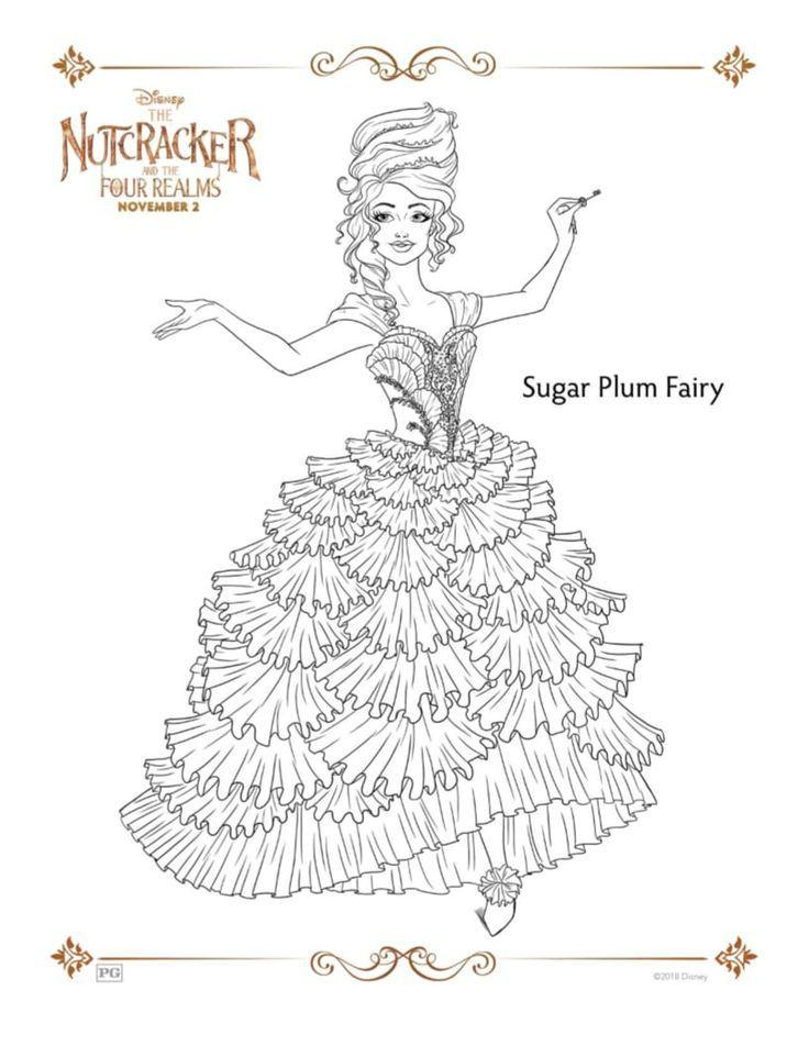 disney sugar plum fairy coloring page