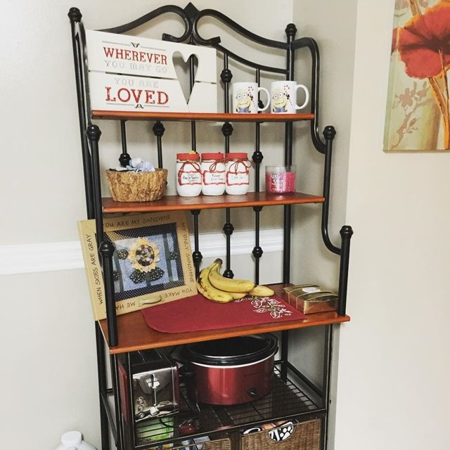 Contemporary Small Kitchen Bakers Rack