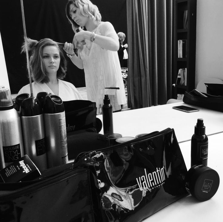 backstage shooting photo collection valentin coiffeur coloriste avec les produits de coiffure lothmann paris http - Coiffeur Coloriste Paris