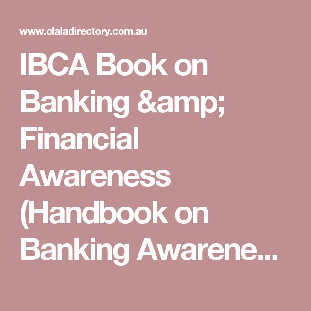 IBCA Book on Banking & Financial Awareness (Handbook on Banking Awareness) – Buy Book Online Bangalore – Business Directory