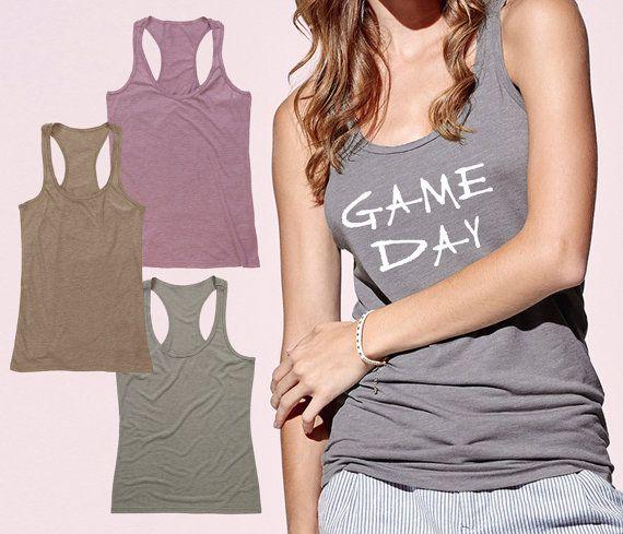 Game Day Tank Game Day Shirt Womens Football by ToniKaramanoff