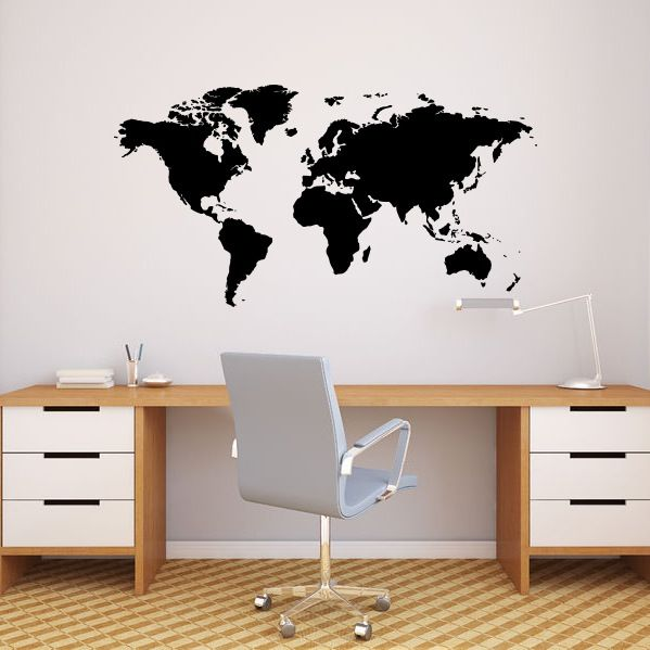 Image of World Map Wall Decal