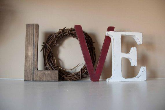 Love Letters Valentine Decor Mantle Decor Gift by theletteredlane, $35.00