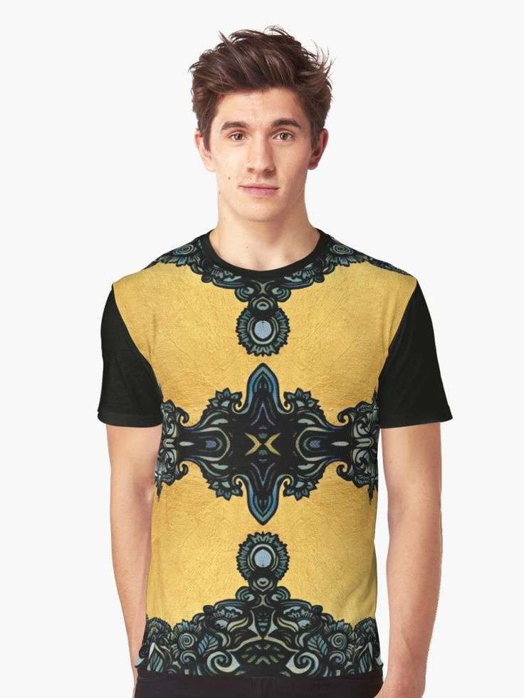Golden fleece Graphic T-Shirts  flourish ornate baroque greek style pattern gold texture luxury elegant art deco art nouveau ancient greek egypt zentangle abstract detailed adornment embellishment kaleidoscope gold foil