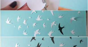 Swallows wall decor... Are you bored of that simple paint on the wall? Do you want to add something special to the bedroom, even the living? Why don't you paint some swallows?