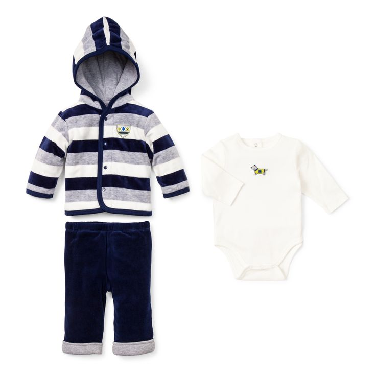 Dashing Dachshund 3 Piece Jacket Set: outfit perfect for 3M baby to 12M