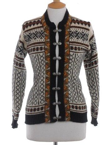Vintage 1970's Fana Knit Nordic Cardigan 10