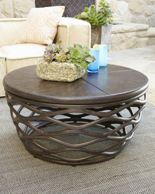 modern outdoor coffee table of round shape can be essential for a warm summer evening