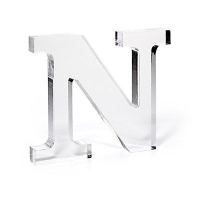 Love this Lucite Monogram Letter for $68 on C. Wonder