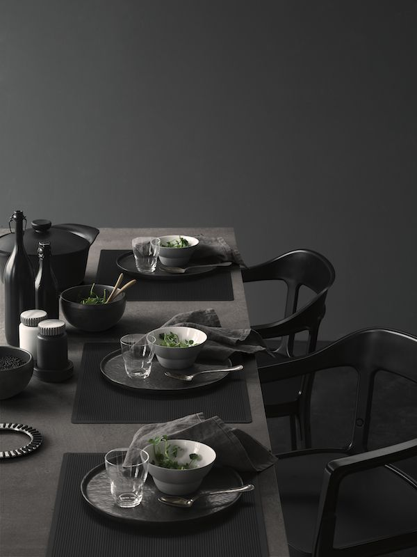 Dining Rooms Tablescape Table Setting Accents Accessories Black