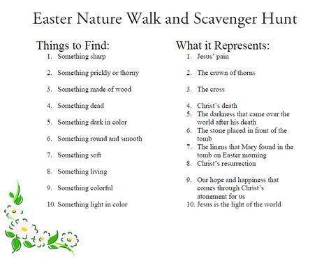 Easter Scavenger Hunt - relates to Christ and is perfect even for little kids. It was a big success at our house!!