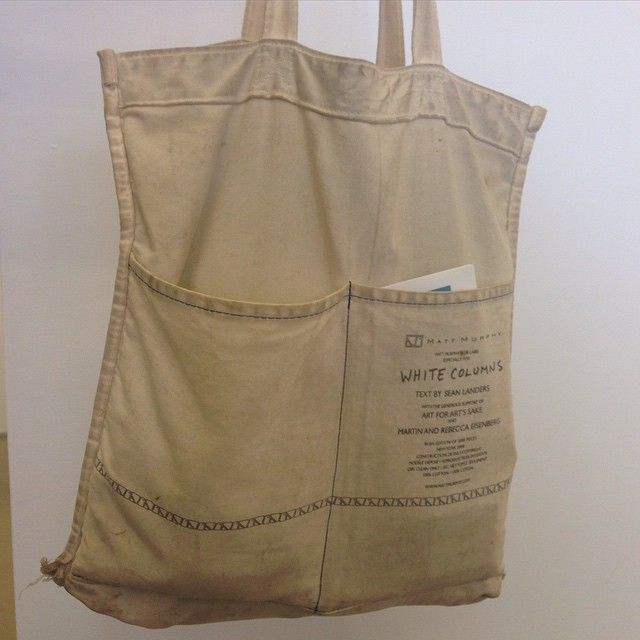 @bbrianbboucher came in with the OG White Columns (now Grey Columns) tote. Inside out no less. @white_columns @sommzee @seanland81