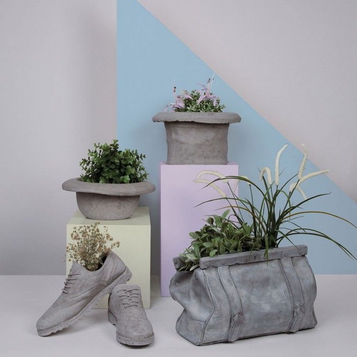 Vaso in cemento Chapeau Cilindro