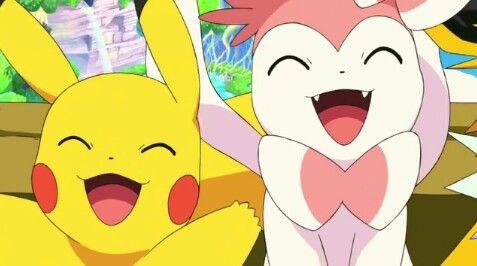 Pikachu and Sylveon ^^♡