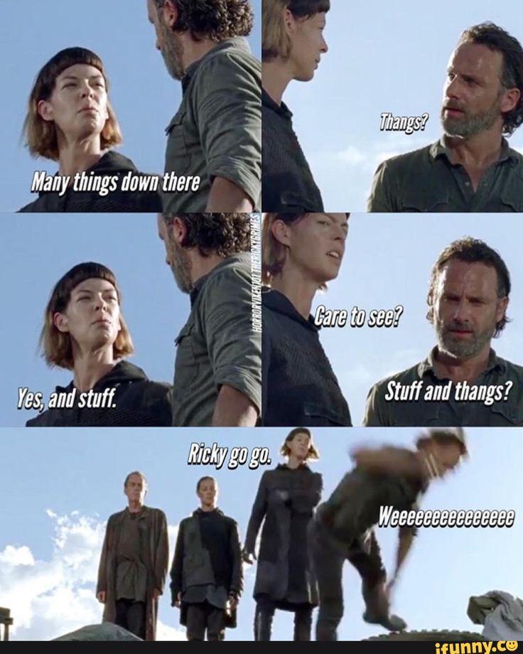 The Walking Dead Season 7 - Pollyanna McIntosh as Jadis and Andrew Lincoln as Rick Grimes