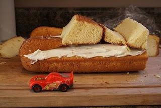 Things I Like To Make: Homemade Lightning McQueen Birthday Cake