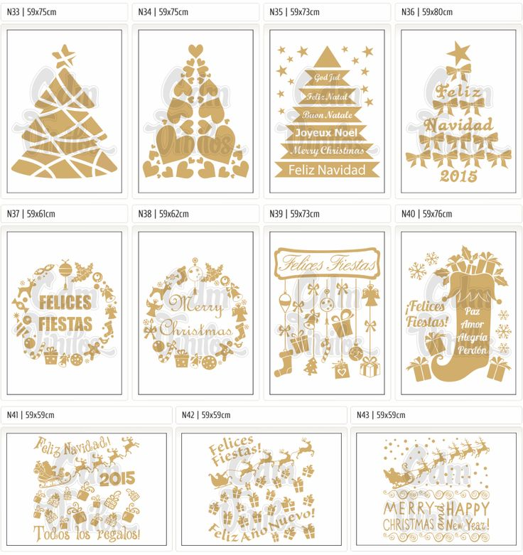 Vinilo Autoadhesivo Navidad 2014 Año Nuevo 2015, Carteles, Vidrieras, Ploteos