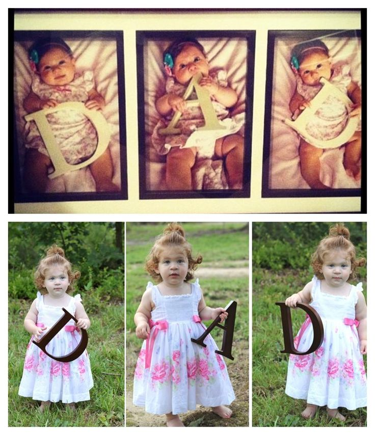 Such a neat photo idea! First fathers day have baby hold letters D A D then keep doing that each fathers day after: ) So sweet!