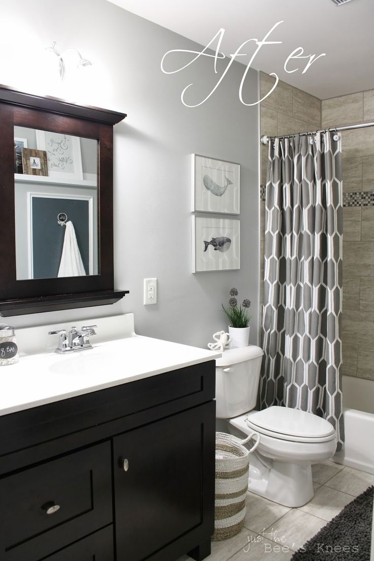 Bathroom paint ideas grey - Boys Bathroom From Just The Bees Knees Paint Color Is Sherwin Williams Tinsmith