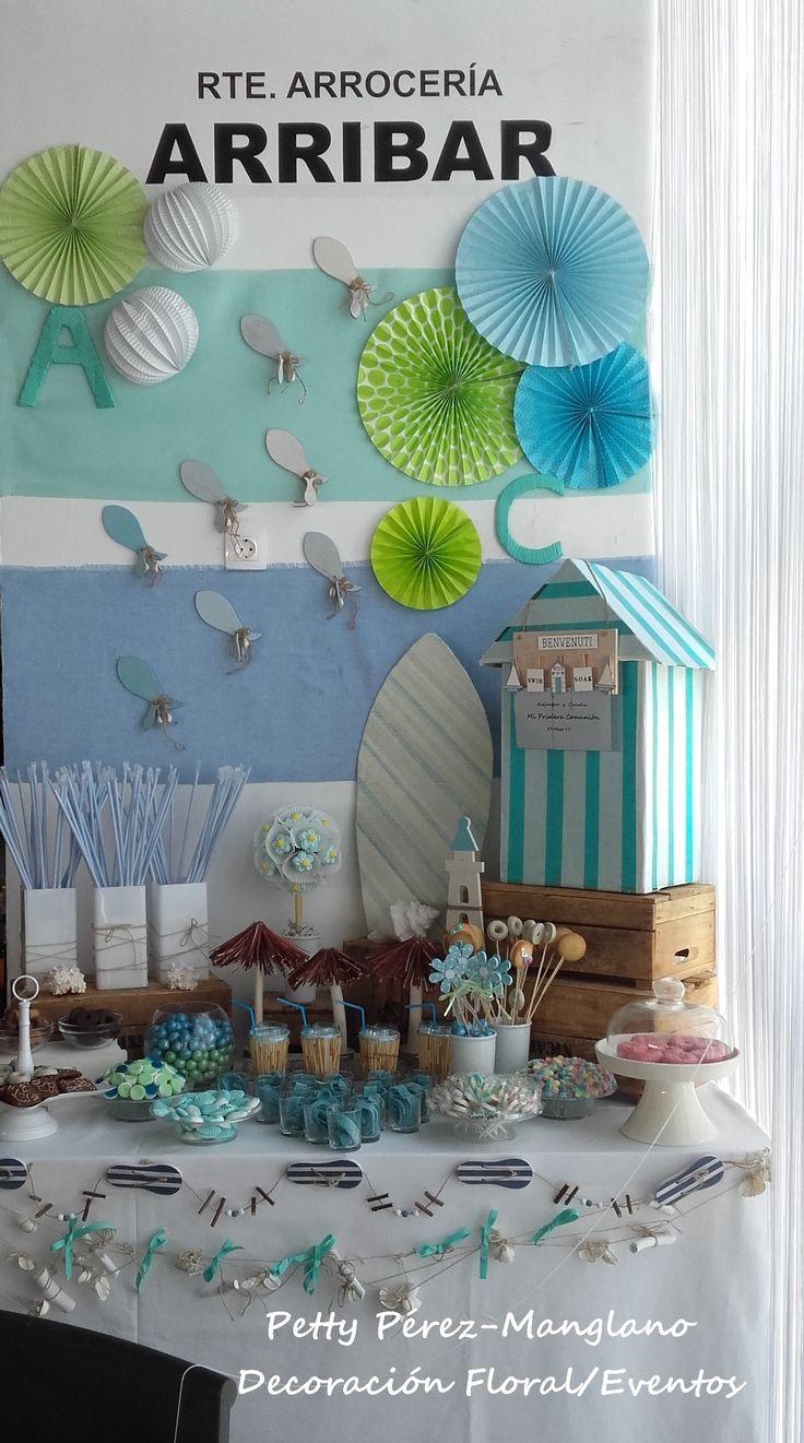 Candy Bar. Candy table . playa. mar.