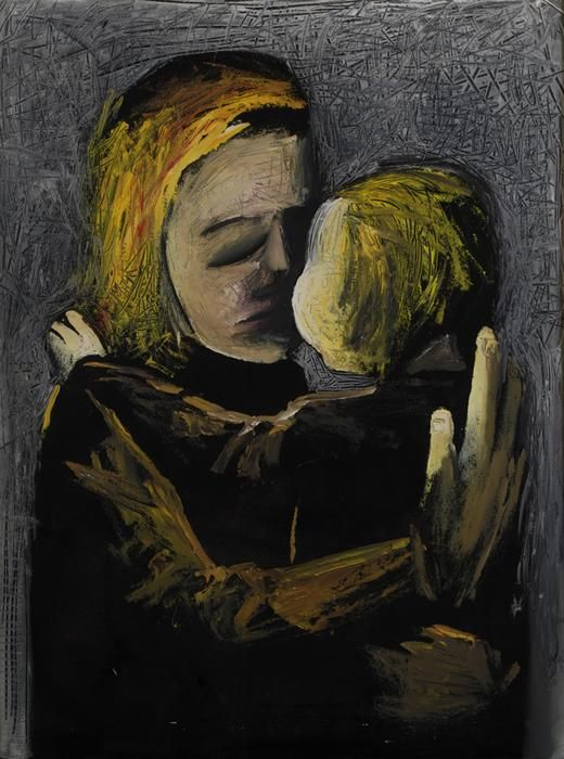 Charles Blackman Mother and Daughter 1961