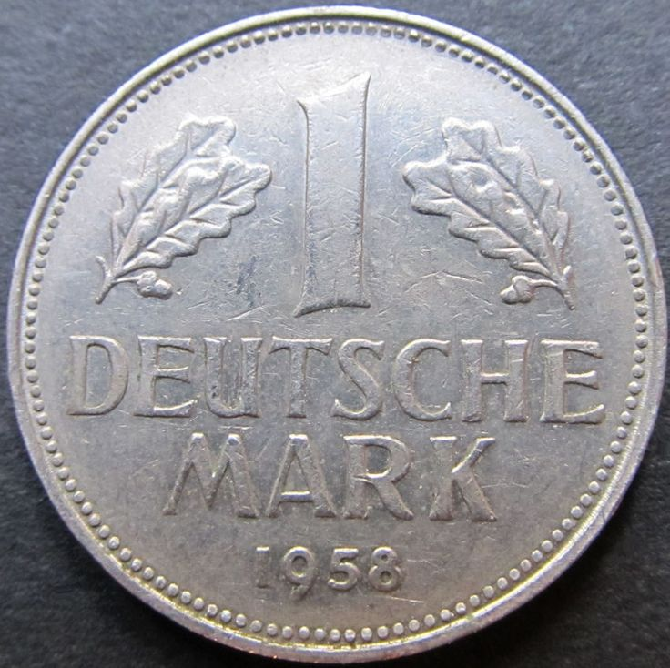 1958 G Germany 1 Deutsche Mark Circulated Coin