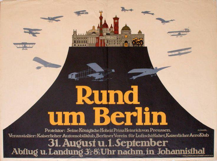 Titel: Rund um Berlin (Kurztitel) Entstehung / Datierung: Klinger, Julius, Entwurf Hollerbaum & Schmidt Berlin N 65, Druckerei, Berlin, 1912