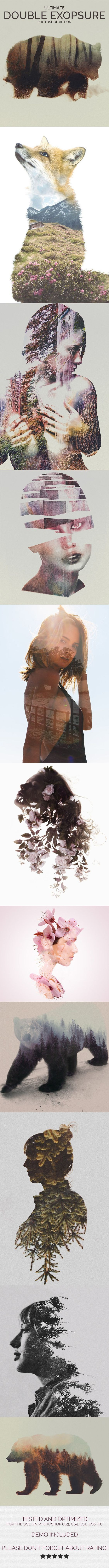 Ultimate Double Exposure Photoshop Action - Photo Effects Actions: