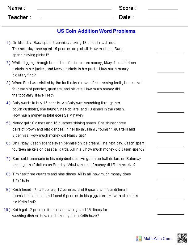 31 best school work images on Pinterest - subtracting money worksheet