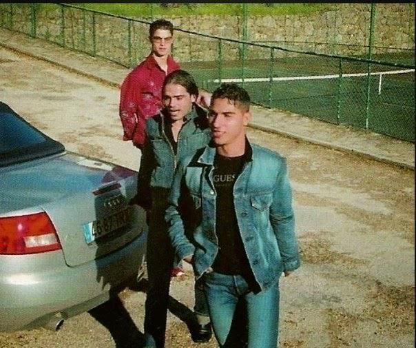 Ronaldo, Quaresma y Toñito cuando jugaban en el Sporting.. Parecen el Vaquilla, el Corneta y el Torete yendo a pillar