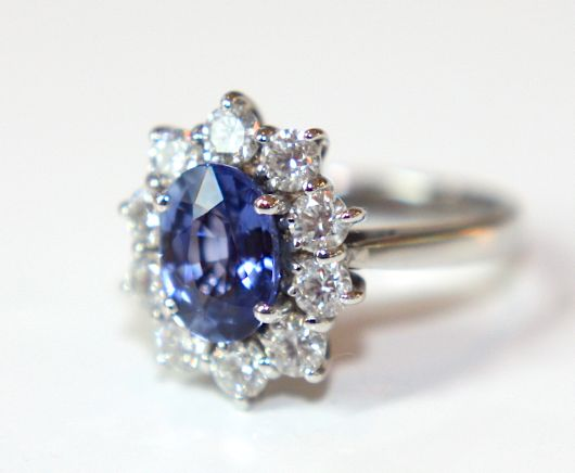 Campbell Oval Blue Sapphire