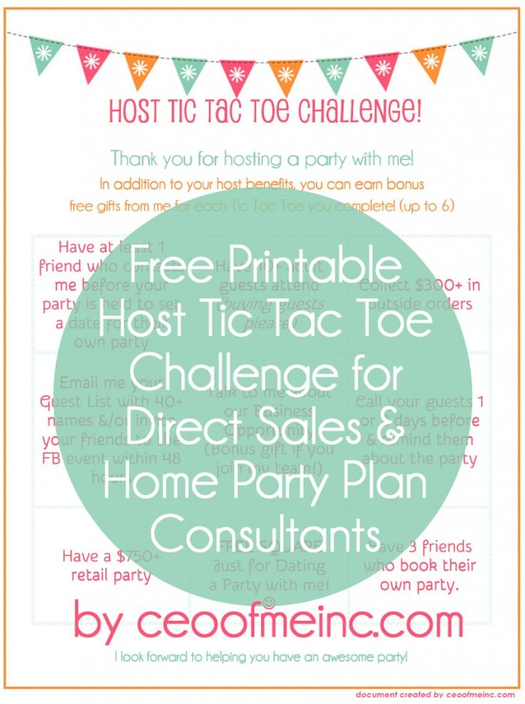 Host Coaching Tips and a Free Printable Host Tic Tac Toe Challenge from CEO of Me via http://ceoofmeinc.com/host-coaching-tips-for-successful-home-parties/