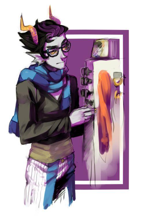 Eridan -- Homestuck  ((Hipster Clothing Shop Worker))