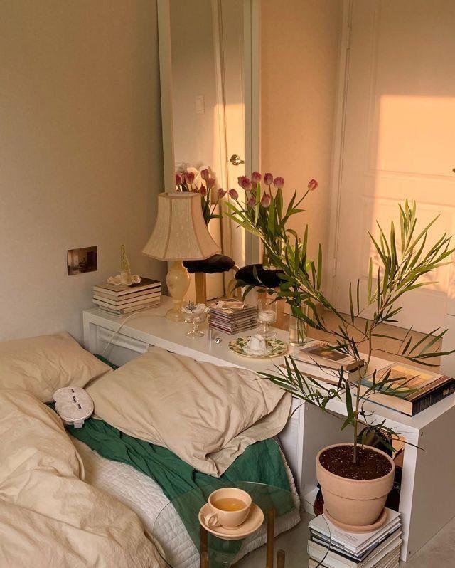 vintage bedroom plants | Bedroom decor, Aesthetic bedroom ...