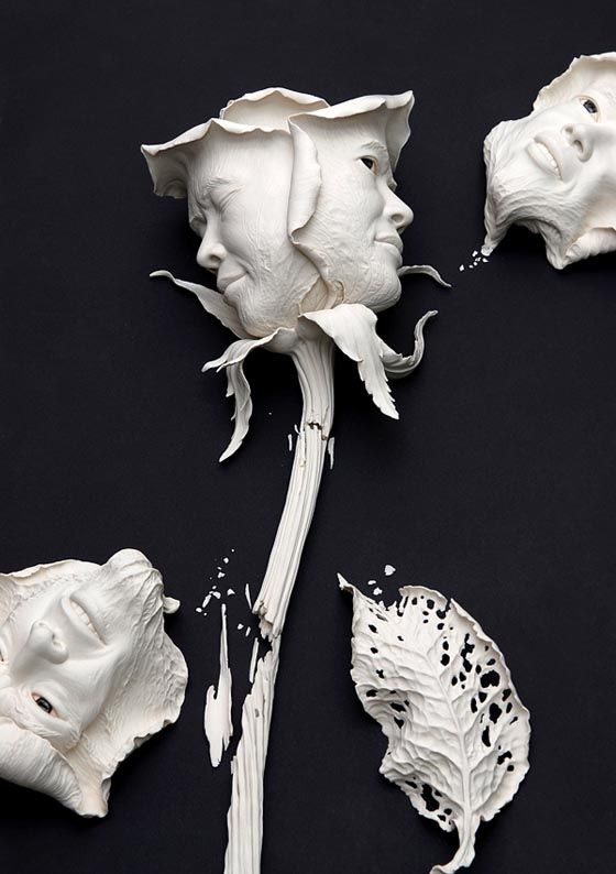 buy winter clothes LOVE this   Reminds me of Alice in Wonderland Ceramic Sculptures from Johnson Tsang