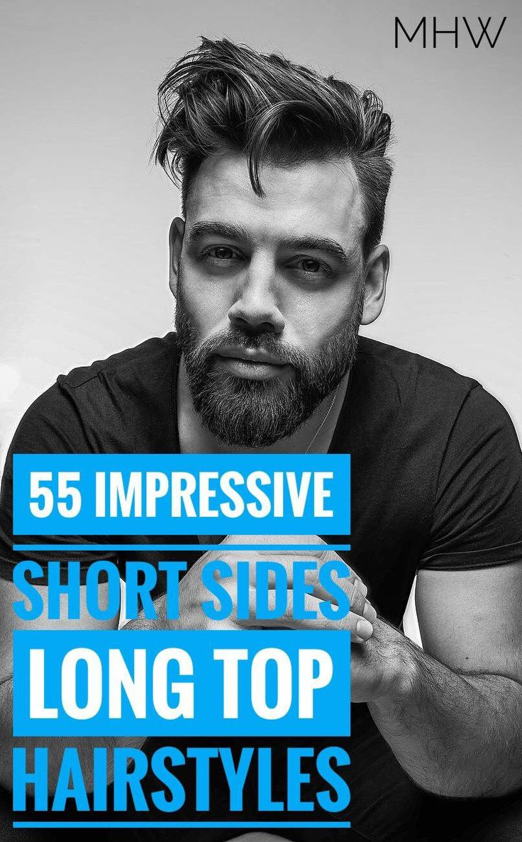 55 Coolest Short Sides Long Top Hairstyles for Men #men'shairstyleideas