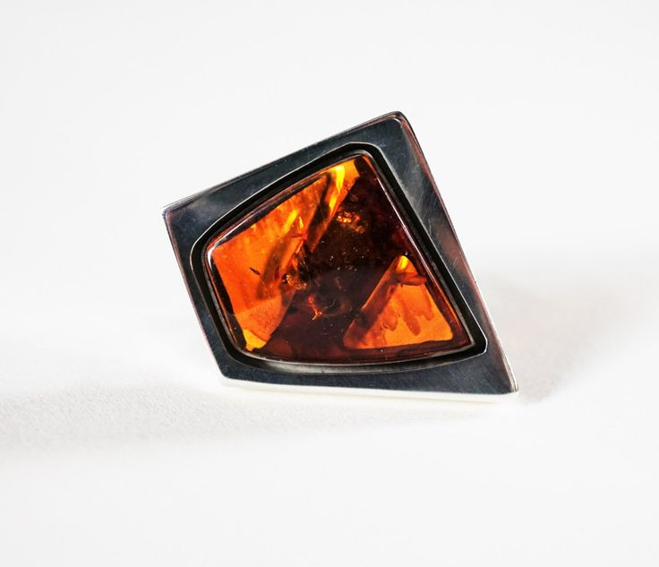 Luxury Baltic Amber Sterling Silver Ring no.763A by APPUSSTUDIOJEWELLERY on Etsy