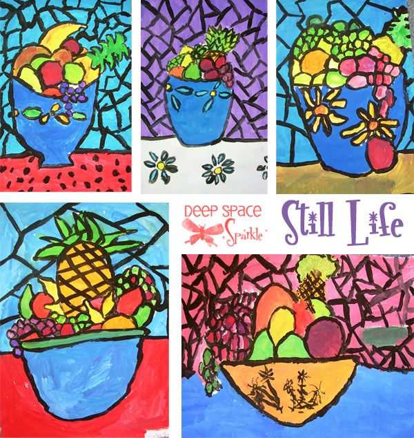 These are some of my favorite art lessons for kids. It combines a couple of my favorite techniques…double-loading of the paint and black paint outline. Inspired by the French artistGeorges Rouault, these lessons are designed to teach the children about light and how to achieve it within a painting by painting a still life or …