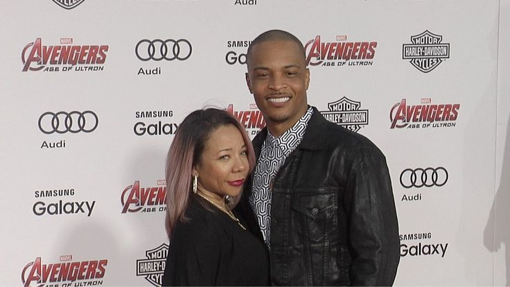 "T.I. and Tameka TINY Cottle ""Avengers: Age of Ultron"" World Premiere Red..."