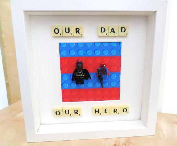 Superhero lego scrabble frame by ScrabbulousFrames on Etsy