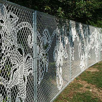 5 ways to dress up a chain link fence chain link fence for Pretty fencing ideas