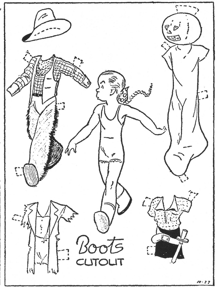 Best Black  White Paper Dolls Coloring Pages International