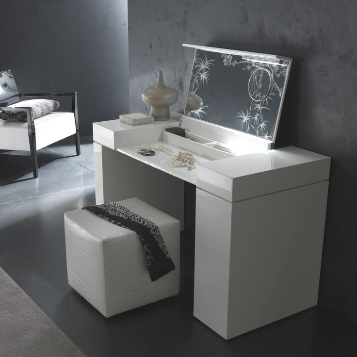modern vanity table with mirror and bench. contemporary Rossetto USA vanities for bedrooms with lights and mirror  design 20 best images about Jen Make Up on Pinterest