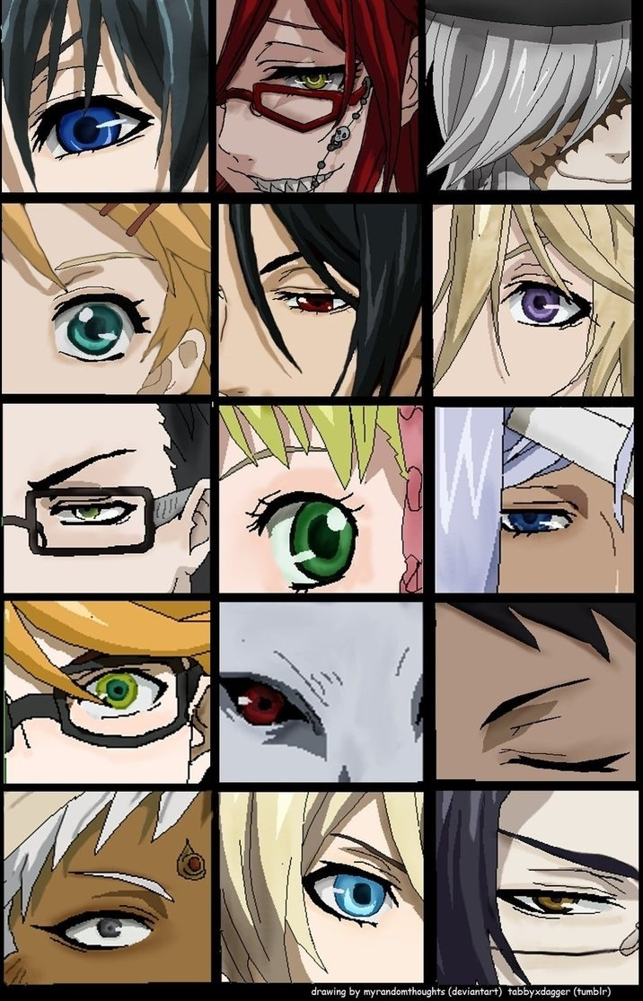 Ciel, Grell, Undertaker, Finny, Sebastian, Vi Count Druit, Will, Lizzy, Hannah, Ronald, Pluto, Lau, Agni, Alois and Claude :)