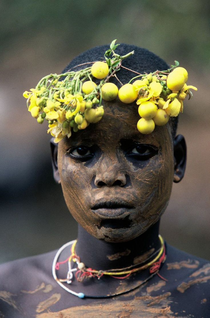 "Africa | ""Natural Fashion"".  People of the Omo Valley, Ethiopia 